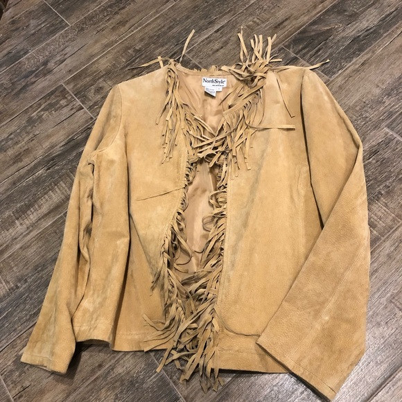 NorthStyle Jackets & Blazers - Northstyle fringe suede jacket.
